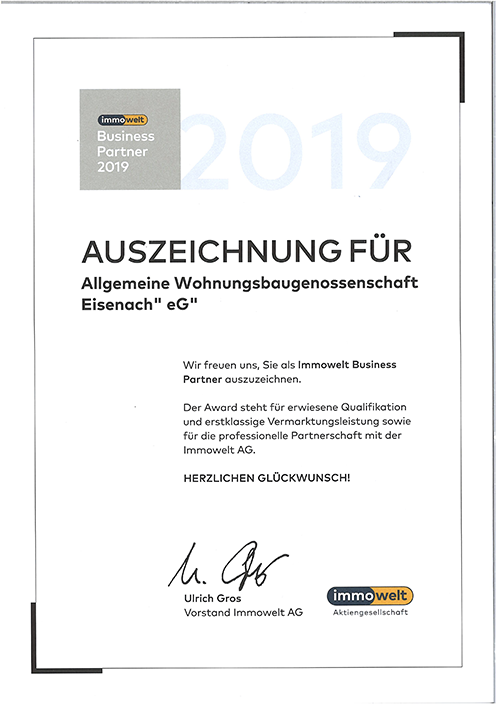 Immowelt Business Partner 2019